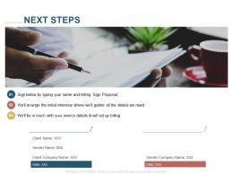 Next Steps Management Ppt Powerpoint Presentation Ideas Deck