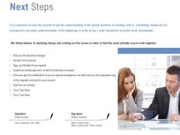 Next Steps Management Ppt Powerpoint Presentation Inspiration Slide