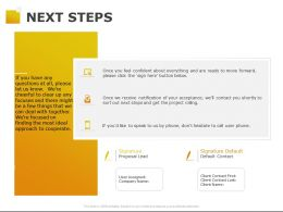 Next Steps Ppt Powerpoint Presentation Pictures Infographics