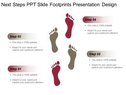 Next Steps Ppt Slide Footprints Presentation Design