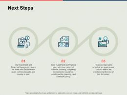 Next Steps Process Finance Ppt Powerpoint Presentation Styles Sample