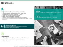 Next Steps Requirements Documentation Ppt Powerpoint Presentation Styles Infographic Template