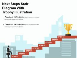 Next Steps Stair Diagram With Trophy Illustration Ppt Examples