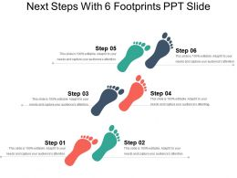 Next Steps With 6 Footprints Ppt Slide