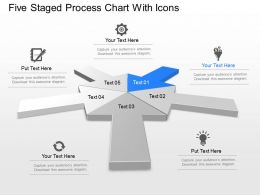 Nf Five Staged Process Chart With Icons Powerpoint Template