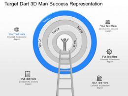 nf Target Dart 3d Man Success Representation Powerpoint Template