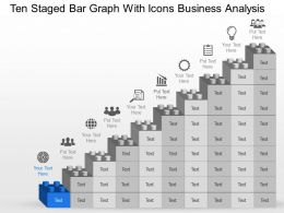Ng Ten Staged Bar Graph With Icons Business Analysis Powerpoint Template Slide