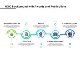 NGO Background With Awards And Publications