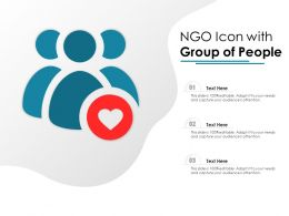 NGO Icon With Group Of People