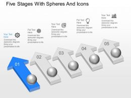 Nh Five Stages With Spheres And Icons Powerpoint Template