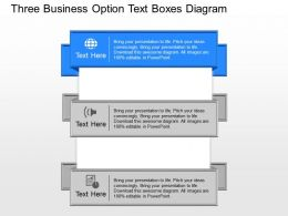 nh Three Business Option Text Boxes Diagram Powerpoint Template