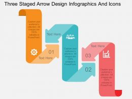 nh Three Staged Arrow Design Infographics And Icons Flat Powerpoint Design