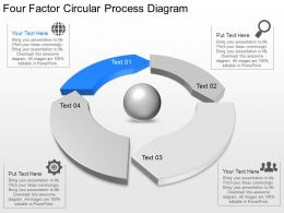 Ni Four Factor Circular Process Diagram Powerpoint Template