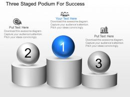 ni Three Staged Podium For Success Powerpoint Temptate