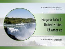 Niagara Falls In United States Of America