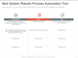 Nice System Robotic Process Automation Tool Ppt Powerpoint Presentation Styles Objects