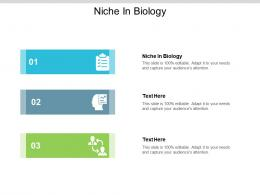 Niche In Biology Ppt Powerpoint Presentation Model Images Cpb