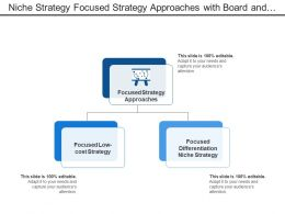 Niche Strategy Focused Strategy Approaches With Board And Arrow Image
