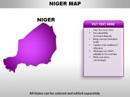 Niger Country Powerpoint Maps