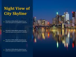 Night View Of City Skyline