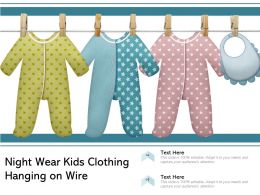 Night Wear Kids Clothing Hanging On Wire