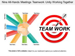 Nine All Hands Meetings Teamwork Unity Working Together