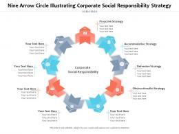 Nine Arrow Circle Illustrating Corporate Social Responsibility Strategy