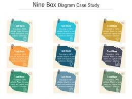 Nine Box Diagram Case Study Infographic Template