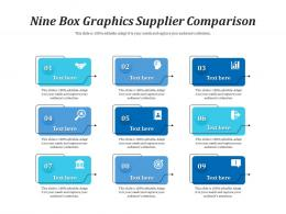 Nine Box Graphics Supplier Comparison Infographic Template