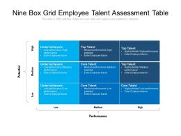Nine Box Grid Employee Talent Assessment Table