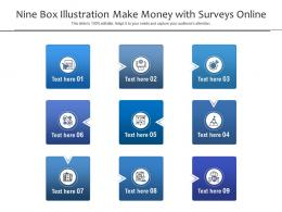 Nine Box Illustration Make Money With Surveys Online Infographic Template