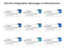 Nine Box Infographics Advantages Of Advertisement Template