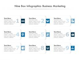 Nine Box Infographics Business Marketing Template