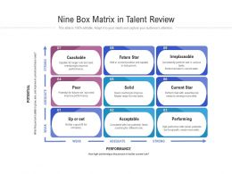 Nine Box Matrix In Talent Review