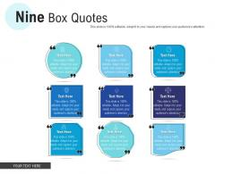 Nine Box Quotes Infographic Template