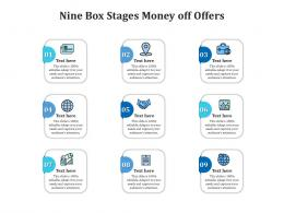 Nine Box Stages Money Off Offers Infographic Template