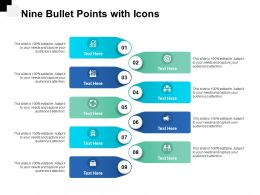 Nine Bullet Points With Icons