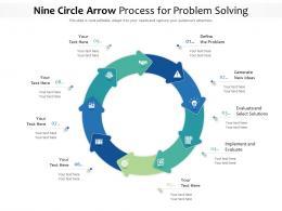 Nine Circle Arrow Process For Problem Solving