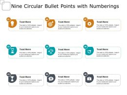 Nine Circular Bullet Points With Numberings