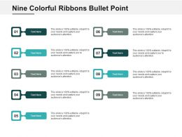 Nine Colorful Ribbons Bullet Point
