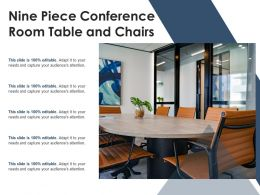 Nine Piece Conference Room Table And Chairs