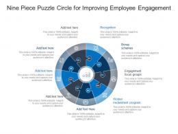 Nine Piece Puzzle Circle For Improving Employee Engagement