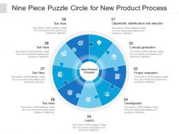 Nine Piece Puzzle Circle For New Product Process
