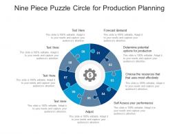 Nine Piece Puzzle Circle For Production Planning