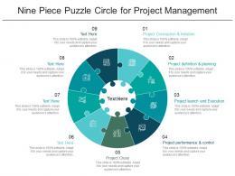 Nine Piece Puzzle Circle For Project Management