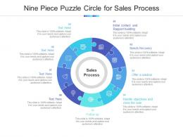 Nine Piece Puzzle Circle For Sales Process