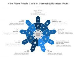 Nine Piece Puzzle Circle Of Increasing Business Profit