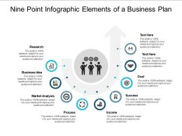 Nine Point Infographic Elements Of A Business Plan