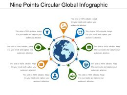 Nine Points Circular Global Infographic