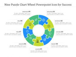 Nine Puzzle Chart Wheel Powerpoint Icon For Success
